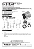 Instruction Manual for Sealey MS016 Fork Seal Driver