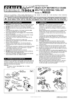 Instruction Manual for Sealey MS025 Heavy-Duty Motorcycle Chain Splitter & Riveting Tool Set