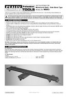 Instruction Manual for Sealey Ms063 Motorcycle Dolly - Side Stand Type