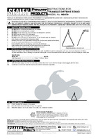 Instruction Manual for Sealey Ms079 Triangle Dirtbike Stand