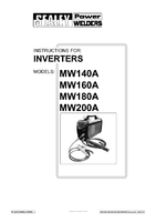 Instruction Manual for Sealey Mw160a Inverter 160amp 230v With Accessory Kit