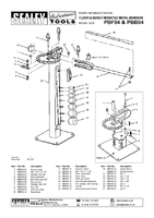 Parts List for Sealey PBF04 Metal Bender Floor Mounting