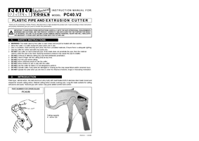 Instruction Manual for Silverline Pc40 Bolster Chisel With Guard 100 X 220mm