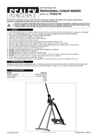 Instruction Manual for Sealey Pcb32 Professional Conduit Bender