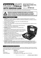 Instruction Manual for Sealey PFT07 Brake Flaring Tool - Turret Type