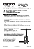 Instruction Manual for Sealey PFT10 On-Vehicle Hydraulic Pipe Flaring Tool Set