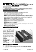 Instruction Manual for Sealey PI1000 1000W Power Inverter 12V DC - 230V