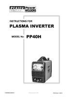 Instruction Manual for Sealey Pp40h Inverter Plasma 40amp 230v