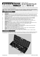 Instruction Manual for Sealey RE101 Air Suction Dent Puller