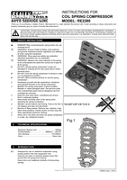 Instruction Manual for Sealey RE2280 Telescopic Spring Compressor - Wishbone Suspension 1250kg