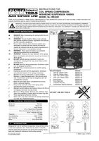 Instruction Manual for Sealey Re2281 Coil Spring Compressor - Wishbone Suspension 1000kg