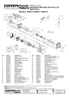 Parts List for Sealey Rw8180 Recovery Winch 8180kg Line Pull 12v Industrial