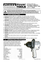 Instruction Manual for Sealey SA297 Air Impact Wrench 1