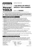 Instruction Manual for Sealey SA6005 Air Impact Wrench 1