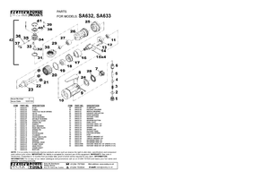 Parts List for Sealey SA632 Air Ratchet Wrench 1/4