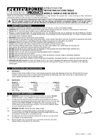 Instruction Manual for Sealey SA894 Retractable Air Hose Reel HD Mechanism 15mtr 8mm ID Polyurethane Hose