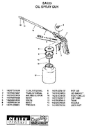 Parts List for Sealey SA923 Paraffin Spray Gun Large Inlet