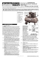 Instruction Manual for Sealey SAC0102B Compressor 100ltr Belt Drive 2hp with Cast Cylinders & Wheels