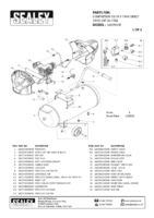 Parts List for Sealey Sac05030f Compressor 50ltr V-twin Belt Drive 3hp Oil Free