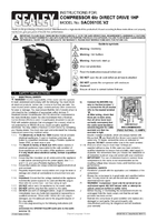 Instruction Manual for Sealey SAC0610E Compressor 6ltr Direct Drive 1hp
