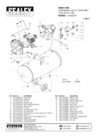 Parts List for Sealey Sac10030f Compressor 100ltr V-twin Belt Drive 3hp Oil Free