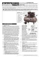 Instruction Manual for Sealey SAC1103B Compressor 100ltr Belt Drive 3hp with Cast Cylinders & Wheels