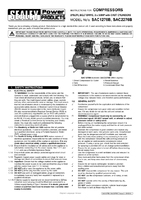 Instruction Manual for Sealey SAC1276B Compressor 270ltr Belt Drive 2 x 3hp with Cast Cylinders