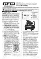 Instruction Manual for Sealey SAC5020E Compressor 50ltr Direct Drive 2hp