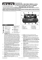Instruction Manual for Sealey Sac5507575b Compressor 500ltr Belt Drive 2 X 7.5hp 3ph 2-stage With Cast Cylinders