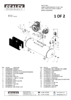 Parts List for Sealey Sac55075b Compressor 500ltr Belt Drive 7.5hp 3ph 2-stage With Cast Cylinders