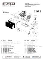 Parts List for Sealey Sac65010b Compressor 500ltr Belt Drive 10hp 3ph 2-stage With Cast Cylinders