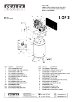 Parts List for Sealey Sacv42755b Compressor 270ltr Vertical Belt Drive 5.5hp 3ph 2-stage With Cast Cylinders