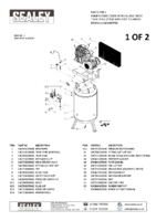 Parts List for Sealey Sacv52775b Compressor 270ltr Vertical Belt Drive 7.5hp 3ph 2-stage With Cast Cylinders
