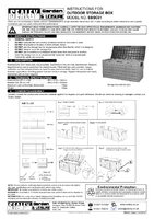 Instruction Manual for Sealey Sbsc01 Outdoor Storage Box