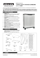 Instruction Manual for Sealey SC06 Utility Storage Cupboard 2 Shelf