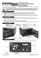 Instruction Manual for Sealey Scfs04 Electronic Combination Fireproof Safe 450 X 380 X 305mm