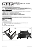 Instruction Manual for Sealey Scr16 Mechanic's Utility Seat & Step Stool