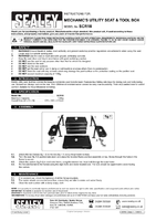 Instruction Manual for Sealey Scr18 Mechanic's Utility Seat & Tool Box
