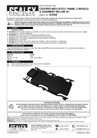 Instruction Manual for Sealey Scr84 Steel Creeper With 6 Wheels & Headrest Deluxe 44
