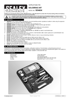 Instruction Manual for Sealey Sd400k Professional Soldering Kit