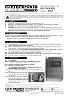 Instruction Manual for Sealey Skl1 Key Lock Box