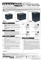 Instruction Manual for Sealey Sks02 Key Lock Security Safe 380 X 300 X 300mm
