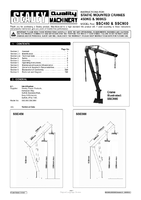 Instruction Manual for Sealey Ssc450 Static Mounted Crane 450kg