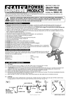 Instruction Manual for Sealey SSG5 Spray Gun Gravity Feed 2.0mm Set-up