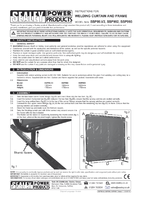 Instruction Manual for Sealey SSP993 Workshop Welding Curtain to BS EN 1598 & Frame 2.4 x 1.75mtr