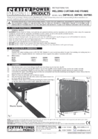 Instruction Manual for Sealey SSP99 Workshop Welding Curtain to BS EN 1598 & Frame 1.3 x 1.75mtr