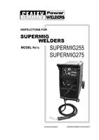 Instruction Manual for Sealey Supermig275 Professional Mig Welder 270amp 230v With Binzel Euro Torch