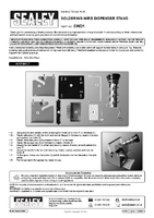 Instruction Manual for Sealey Swd1 Soldering Wire Dispensing Stand