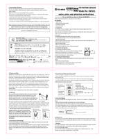 Instruction Manual for Sealey Sws01 Wireless Pir Motion Sensor