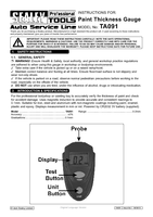 Instruction Manual for Sealey Ta091 Paint Thickness Gauge